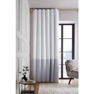 "Window Blackout Curtain Panel Gray White 108""L x50"
